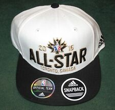 "Rare NBA ALL-STAR GAME ""TORONTO 2016"" ADIDAS OFFICIAL ON COURT SNAPBACK CAP HAT"