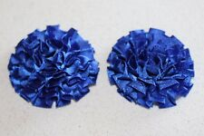 1 Pair Satin Ribbon Carnations for Browband Centre Pieces - Royal Blue