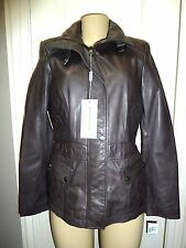 Mark New York  By Andrew Marc Anthracite leather Jacket, Sz S Retail $495.00
