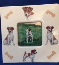 Jack Russell Terrier Ceramic Photo Frame 4 Different Poses. Nice!