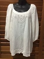 Katies Womens Milton Park White Embroidered Blouse Shirt Top - Size 14 NEW