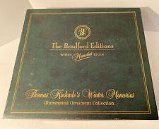 Thomas Kinkade Winter Memories Illuminated Ornaments Bradford Editions