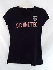 MLS Soccer D.C. United V Neck T Shirt Short Sleeves Black XL