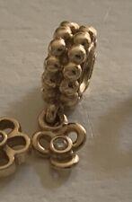 Authentic Pandora 14K Gold Dangle Charm with Diamond,  rare retired 750407D