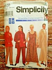 Simplicity Sewing Pattern 9320 Womens Jumper Jacket Pants Top Sizes 26-32 UNCUT