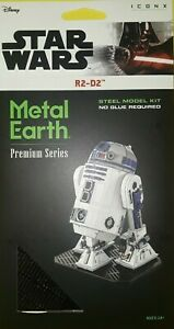 DISNEY STAR WARS ICONX 3-D METAL EARTH of R2-D2~BRAND NEW~BID$1~WE COMBINE SHIPn