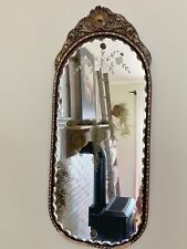 Original Nurre Maestro Mirror with Etched Flowers on Glass