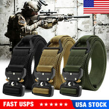 1.5 Inch Military Tactical Belt Mens Army Combat Waistband Rescue Rigger Belt
