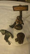 3 Vintage Figurines Cast Iron