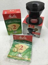 MELITTA Pour-Over 1-Cup Coffee Maker, Black Brewing Cone + 105 Natural Filters