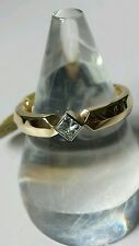 Beautiful 18ct Yellow Gold, .25ct Princess-cut Diamond, Solitaire New with tags