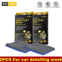 2Pack Microfiber Clay Bar Mitt Clay Glove Car Care Detailing Cleaning Wash Towel