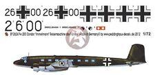 "Peddinghaus 1/72 Fw 200 A-0 Condor ""Immelmann III"" Markings Führerflugzeug 2624"