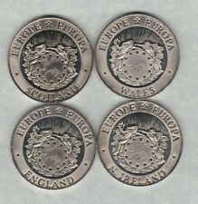 More details for four 1992 wales, scotland, n ireland & england 25 ecu crowns in mint condition