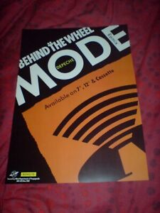 """DEPECHE MODE """"BEHIND THE WHEEL"""" 17 X 11 PROMO POSTER"""