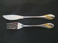 WMF Charme Fischbesteck Golddekor 1 Fischmesser + 1 Fischgabel Note 1-2 / 2 TOP