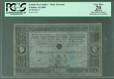 Danish West Indies Lot P-3 1849 1898 5 Dalere VF 20 PCGS-20 State Treasury