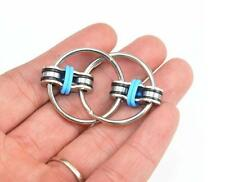 Key Ring Hand Spinner Fidget EDC Sensory Stress Relief Toy For Autism ADHD Blue