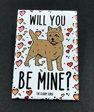 Cairn Terrier Valentines Day Magnet Handmade Dog Gifts Fridge and Locker Decor