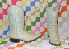 Womens Size 6 Mision Santo Tomas Cowboy Boots Ostrich Embossed Leather Mexico