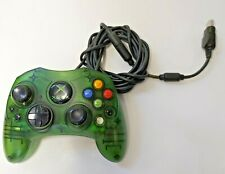 Original Xbox Controller Wired Halo Green S-Type Genuine Official OEM -Pre-owned