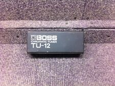 BOSS TU-12 CHROMATIC GUITAR TUNER WITH DIGITAL PROCESSING COMES WITH CASE!!