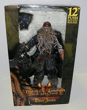 "Pirates of-the Caribbean Davy Jones 12"" NECA ,Sound Reel Toys Dead mans chest"