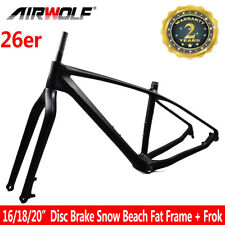 "26er Carbon Fat Bike Mtb Frame Snow Beach Bicycle Frame Fit 5.0"" Tires 16/18/20"""