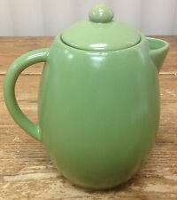 Starbucks Coffee Pot Server with Lid Green Pottery 32 Fluid Ounces Sleek Nice