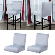 2pcs Gray Kitchen Dining Room Chair Cover Wedding Bar Stool Slipcover Home Decor