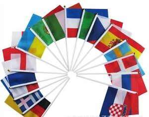 1 x World Country Hand Waving Flag Olympics World Cup World Wide Flags ( 1 flag)