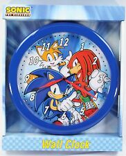 """Officially Licensed Sonic Collection 10"""" Quartz Wall Clock for kids room decor"""