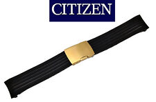 Citizen Skyhawk Original Watch Band BLACK Rubber Strap JY0006-06E gold buckle