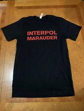 Interpol Marauder Tour 2019 Shirt Rare Black Small Quick Ship
