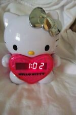 Hello Kitty Wall/Ceiling  Projection AM/FM Alarm Clock w/Silver Bow KT2064P