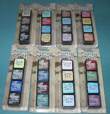 Lot of 32 TIM HOLTZ MINI DISTRESS INK STAMP PADS!  No Duplicates! New!