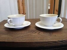 White Coffee / Tea Cups and Saucers Set
