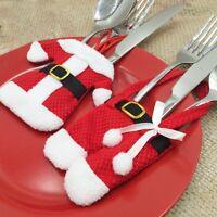 6 x Noël bonhomme de neige coutellerie de table à fourche porte-couteaux housse
