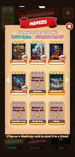 Coin Master Cards Miners Set White Cards (4 cards total)