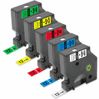5PK Dymo D1  45013 45016 45017 45018 45019 12mm 0.47 In Label Tape  Dymo D1