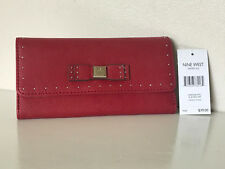 NEW! NINE WEST SAIDEE RUBY RED CHECKBOOK CLUTCH WALLET PURSE $39 SALE