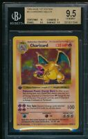 BGS 9.5 w/10 CHARIZARD 1ST EDITION SHADOWLESS 1999 POKEMON BASE #4 HOLO GEM MINT