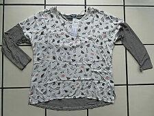 SAMOON luftiges Viskose-Shirt schwarz-weiß gestreift Gr. 46 NEU