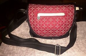 Sherpani Milli le Red & Black Nylon Purse Crossbody Handbag