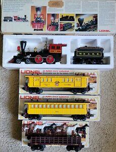 LIONEL THE GENERAL Set Steam Locomotive & Tender, Horse-Passage-Baggage Cars;...