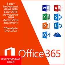Microsoft Office 365 PRO PLUS 2016 für 5PC/5MAC 5 Mobiles 5TB OneDrive, LIFETIME
