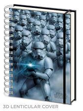 STAR Wars Stormtrooper LENTICOLARE 3d ringbound a5 Notebook NUOVO FODERATO UFFICIALE