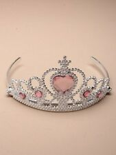 NEW Plastic silver childrens pink stone tiara hair accessory bling party prom