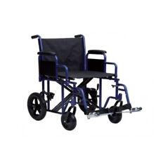 Sedia A Rotelle Extra Large Da Transito Carrozzina Disabili Anziani bariatrica