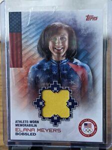 ELANA MEYERS 2014 TOPPS ATHLETE WORN MEMORABILIA RELIC CARD USA BOBSLED